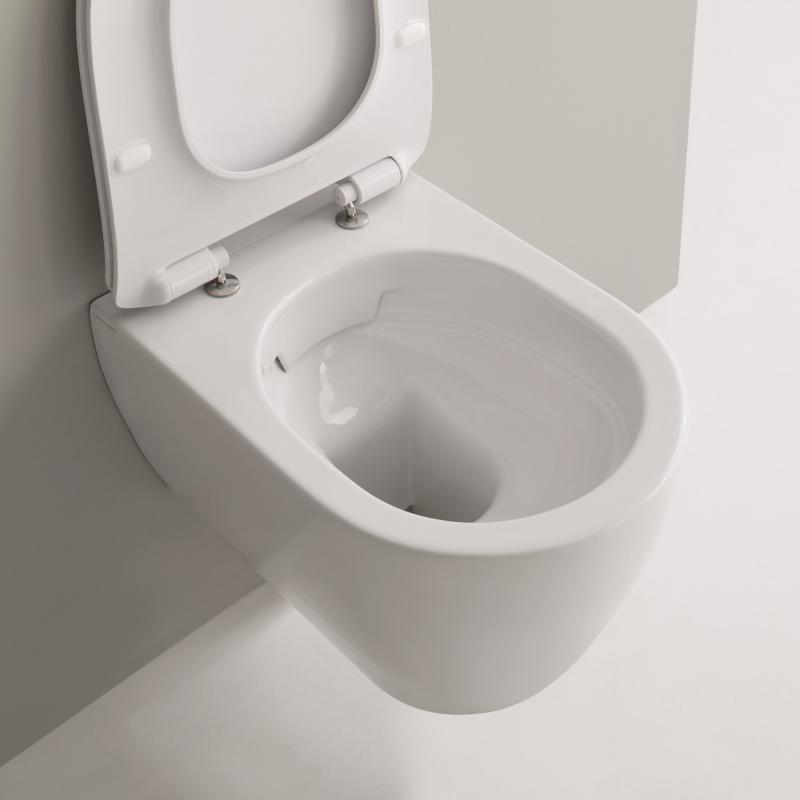 Berühmt Scarabeo Moon Wand-Tiefspül-WC, ohne Spülrand weiß - 5520CL - Emero.de LF68