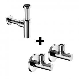 Schell Design-Siphon EDITION und 2 Eckventile STILE