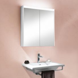 Schneider O-Line Auf- & Unterputz Spiegelschrank mit LED-Beleuchtung, 2-türig