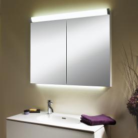 Schneider PALILINE Spiegelschrank mit 2 Türen, mit Beleuchtung silber eloxiert