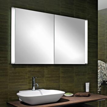 Schneider ELUALINE Spiegelschrank mit 2 Türen silber eloxiert