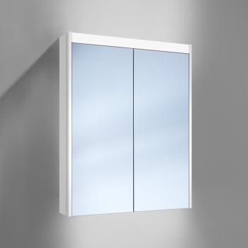 Schneider O-Line Aufputz Spiegelschrank mit LED-Beleuchtung + LED Beleuchtung unten, 2-türig