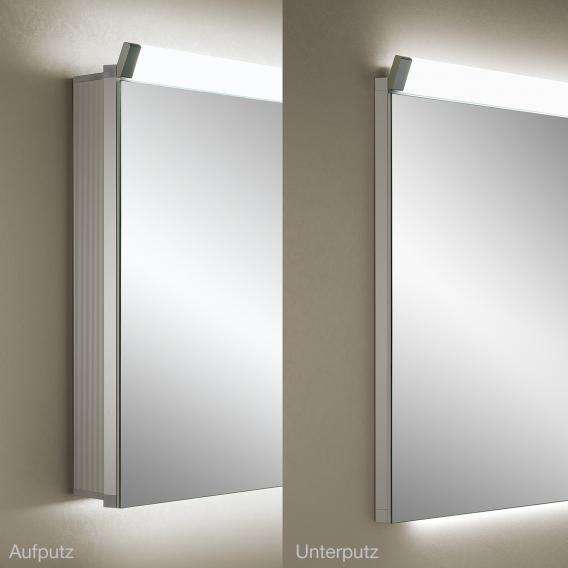 Schneider PALILINE Spiegelschrank mit 2 Türen silber eloxiert