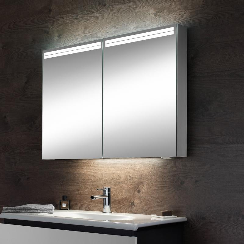 Gut gemocht Schneider ARANGALINE Spiegelschrank, mit 2 Türen - 160.080.02.50 SZ16
