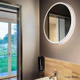SLV TRUKKO Spiegel mit LED-Beleuchtung, rund