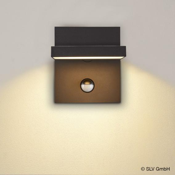 SLV ABRIDOR LED Wandleuchte mit CCT und Bewegungsmelder