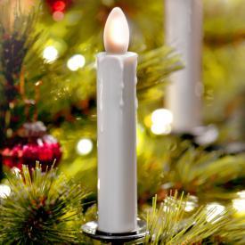 Sompex Shine LED Weihnachtsbaum-Klemmleuchten 5er Set mit Timer und Fernbedienung