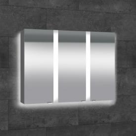 Sprinz Elegant-Line Aufputz Spiegelschrank mit Hintergrundbeleuchtung