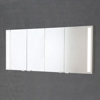 Sprinz Silver-Line Aufputz Spiegelschrank Modell-Nr. 06 Korpus aluminium matt, ohne Hintergrundbeleuchtung