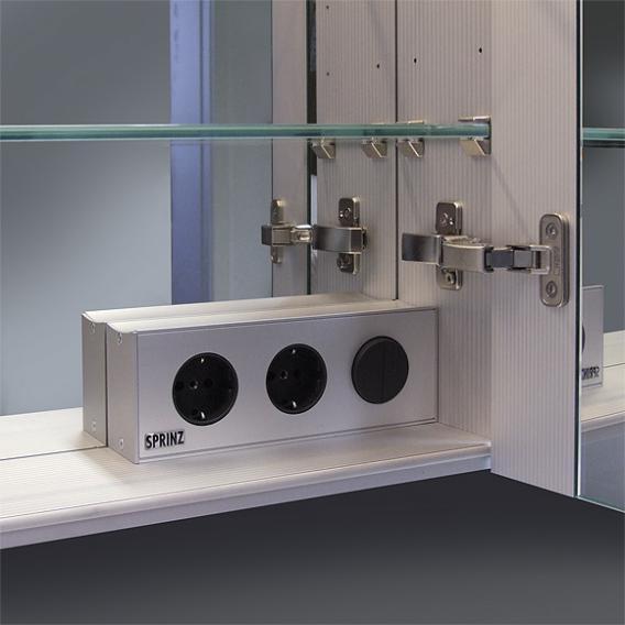 Sprinz Classical-Line Unterputz Spiegelschrank umlaufend beleuchtet mit 3 Türen Rückwand verspiegelt