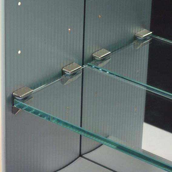 Sprinz Elegant-Line Aufputz Spiegelschrank mit LED-Beleuchtung, mit 1 Tür Anschlag rechts, ohne Hintergrundbeleuchtung