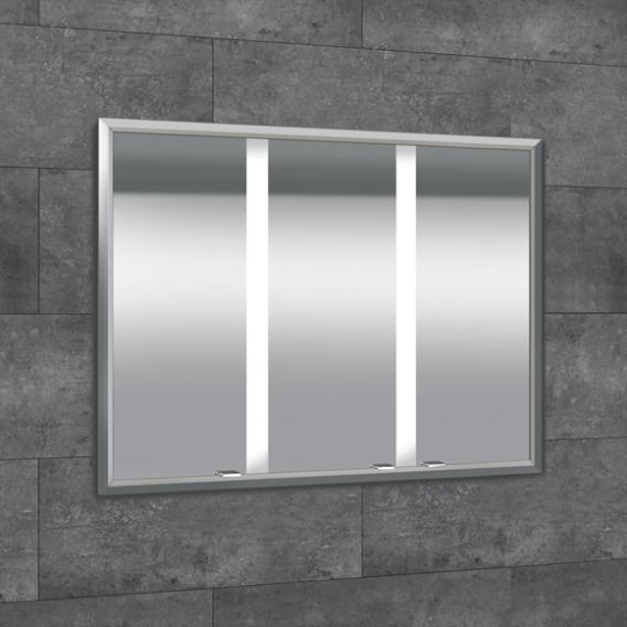 Sprinz Elegant-Line Unterputz Spiegelschrank mit LED-Beleuchtung, mit 3 Türen