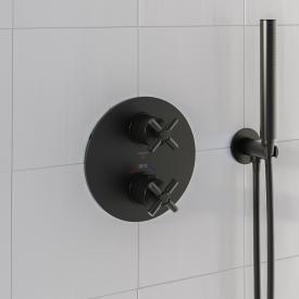 Steinberg Sensual Rain Fertigmontageset für Brause-Unterputzthermostat mit 2-Wege-Umsteller schwarz matt