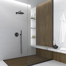 Steinberg Sensual Rain Fertigmontageset für Unterputzthermostat mit 3-Wege-Umsteller schwarz matt
