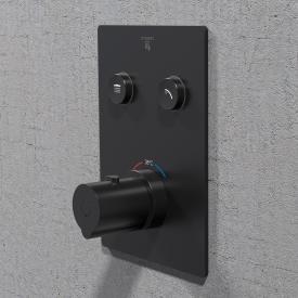 Steinberg Sensual Rain Unterputz-Thermostat für 2 Verbraucher schwarz matt