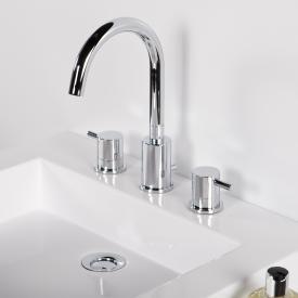 Steinberg Serie 100 3-Loch Waschtischarmatur mit Ablaufgarnitur