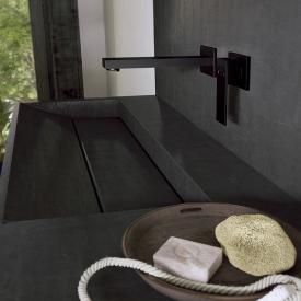 Steinberg Serie 160 Waschtisch-Einhebelmischbatterie für Wandmontage Ausladung: 205 mm, schwarz matt