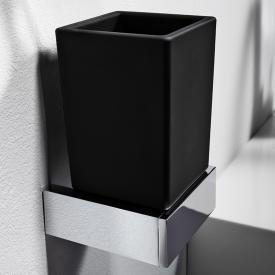 Steinberg Serie 460 Glashalter mit Glas schwarz satiniert