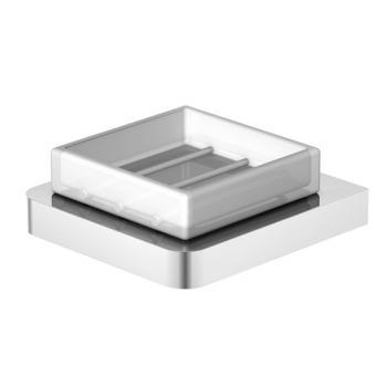 Steinberg 420 Seifenhalter mit Glas weiß satiniert