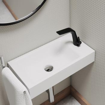 Steinberg Serie 260 Waschtisch-Einhebelmischbatterie schwarz matt, ohne Ablaufgarnitur