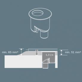 TECE drainline Ablauf DN 50 Auslauf senkrecht, 1,3l/s