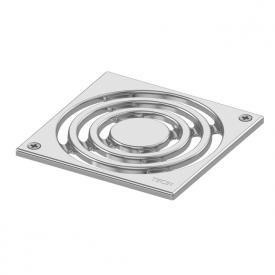 TECE drainpoint S Designrost Edelstahl, verschraubbar L: 14,2 B: 14,2 cm
