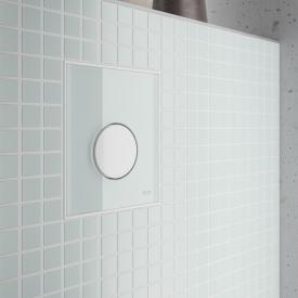 TECE loop Glas Urinal-Betätigungsplatte inkl. Kartusche weiß