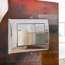 TECE planus WC-Betätigungsplatte für 2-Mengen-Technik chrom