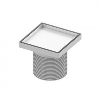 """TECE drainpoint S Rostrahmen aus Edelstahl Design """"plate"""" L: 14,2 B: 14,2"""