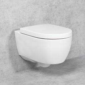 Geberit iCon NEU & Tellkamp Premium 1000 Wand-WC-SET: WC ohne Spülrand, WC-Sitz mit Absenkautomatik weiß