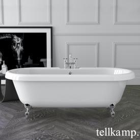 Tellkamp Antiqua freistehende Oval Badewanne weiß glanz, Schürze weiß glanz