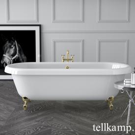Tellkamp Antiqua Plus Freistehende Oval-Badewanne weiß glanz, Schürze weiß glanz