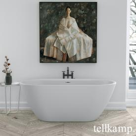Tellkamp Cosmic Freistehende Oval-Badewanne weiß matt, Schürze weiß matt, ohne Füllfunktion