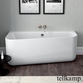 Tellkamp Koeko Vorwand-Badewanne mit Verkleidung weiß glanz, mit Wanneneinlauf