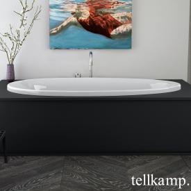 Tellkamp Neon Fix Oval Badewanne weiß glanz, ohne Füllfunktion