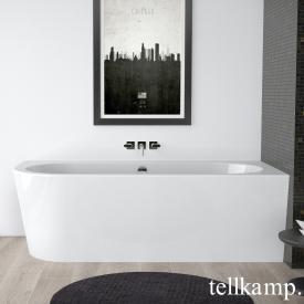Tellkamp Pio Raumspar-Badewanne mit Verkleidung weiß glanz, Schürze weiß glanz, mit Wanneneinlauf