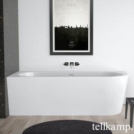 Tellkamp Pio Raumspar-Badewanne mit Verkleidung weiß glanz, Schürze weiß glanz, ohne Füllfunktion