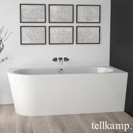 Tellkamp Pio Eck-Badewanne weiß glanz, Schürze weiß glanz, mit Füllfunktion über Überlauf