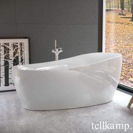 Tellkamp Sao Freistehende Oval Badewanne weiß glanz, Schürze weiß glanz, ohne Füllfunktion