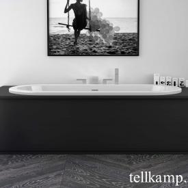 Tellkamp Solitär Fix Oval-Badewanne, Einbau weiß glanz, ohne Füllfunktion