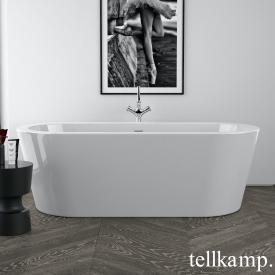 Tellkamp Solitär freistehende Oval Badewanne weiß glanz, Schürze weiß glanz