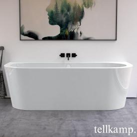 Tellkamp Solitär Wall Badewanne weiß glanz, Schürze weiß glanz, mit Füllfunktion über Überlauf
