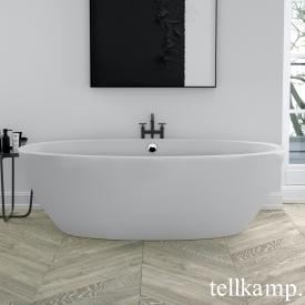 Tellkamp Space freistehende Oval Badewanne weiß matt, Schürze weiß matt, ohne Füllfunktion