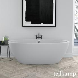 Tellkamp Space Freistehende Oval-Badewanne weiß matt, Schürze weiß matt, ohne Füllfunktion