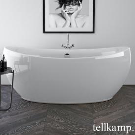 Tellkamp Spirit freistehende Oval Badewanne weiß glanz, mit Füllfunktion über Überlauf