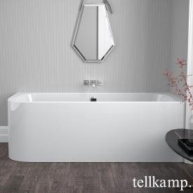 Tellkamp Thela Eck-Badewanne mit Verkleidung weiß glanz, mit Wanneneinlauf