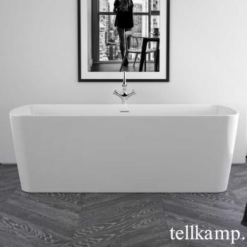 Tellkamp Komod Rechteck Badewanne weiß glanz