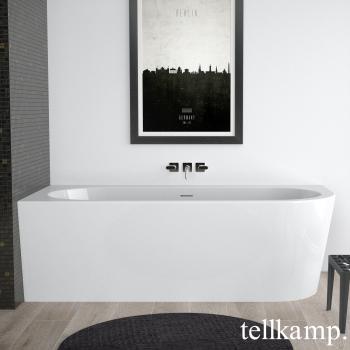 Tellkamp Pio R Eck Badewanne, Ausführung rechts weiß glanz, Schürze weiß glanz