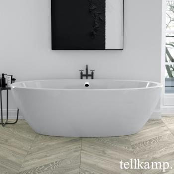 Tellkamp Space freistehende Oval Badewanne weiß glanz