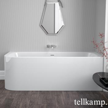 Tellkamp Thela L Eck Whirlwanne weiß glanz